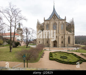 Czech Republic, Kutna Hora. St. Barbara's Church and garden. Credit as: Wendy Kaveney / Jaynes Gallery / DanitaDelimont.com - Stock Image