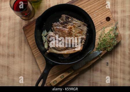 pork shoulder chop - Stock Image