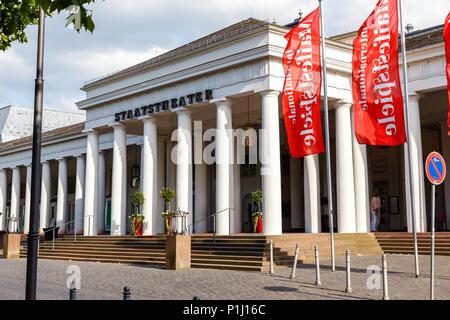 Hessisches Staatstheater Wiesbaden. 31st Mai 2018. - Stock Image