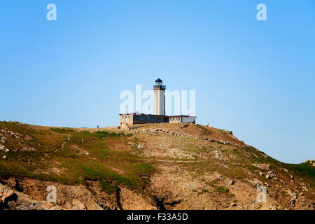 Moines Island lighthouse Cotes d'Armor Brittany France Europe. - Stock Image