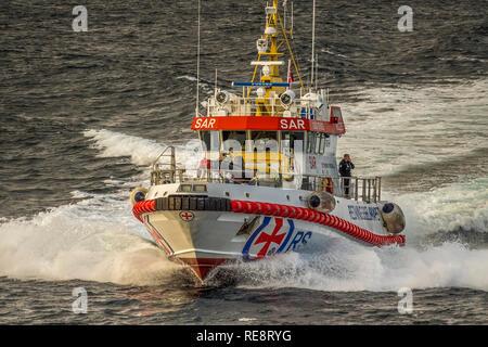 Pilot Boat The Lofoten Islands, Norway - Stock Image