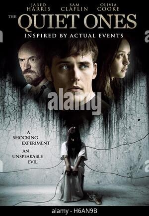 JARED HARRIS SAM CLAFLIN & OLIVIA COOKE POSTER THE QUIET ONES (2014) - Stock Image