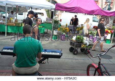 State Street Market (local produce), in Santa Barbara, California, USA. - Stock Image