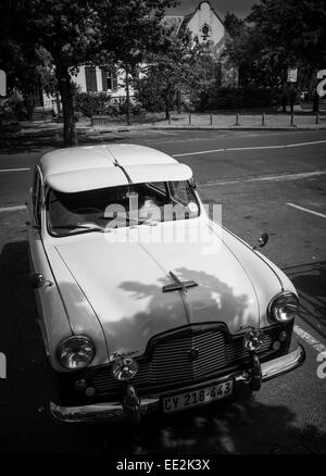 A 1950's Ford Zephyr Six classic car parked in Die Braak, Stellenbosch, South Africa. Used for tourist trips - Stock Image
