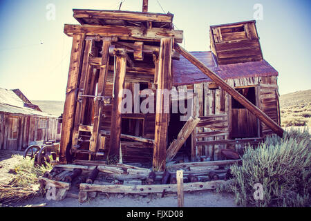 Ghost Town of Bodie. Decaying building - Stock Image