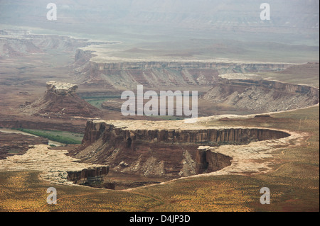 View of distant canyons from Island of the Sky in Canyonlands National Park, Utah, USA - Stock Image