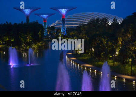 Gardens by the Bay light and music show, Singapore SIN - Stock Image