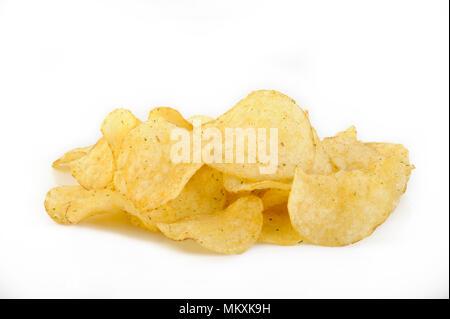 crispy potato chips with rosemary - Stock Image