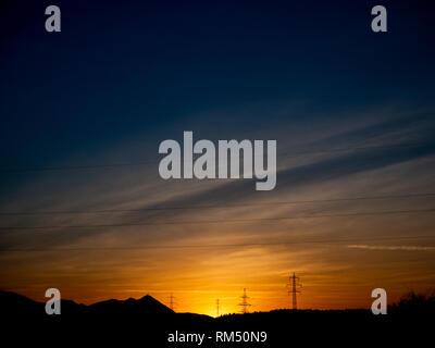 Moody evening sky - Stock Image