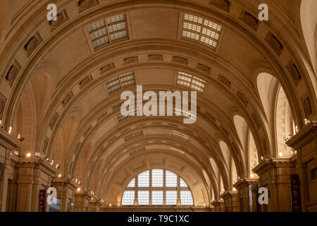 The Plaza Constitución railway station (Buenos Aires, Argentina) is considered one of the largest and most beautiful railway stations in the world. - Stock Image