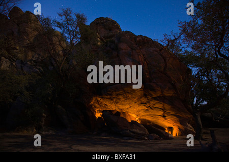 Tsodilo Hills. Shakawe. Botswana. Sacred for the San and famous for the rock paintings. - Stock Image