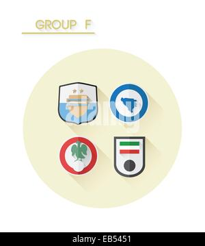 Group f with country crests - Stock Image