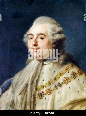 Portrait of King Louis XVI King of France, painting by the circle of Antoine-François Callet, 18th Century - Stock Image
