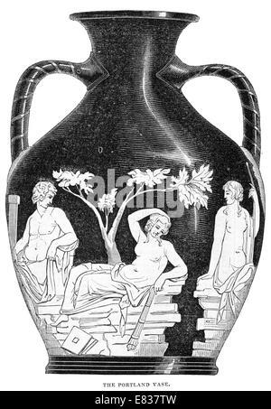 The Portland or Barberini Vase 1844 - Stock Image