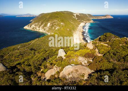 Bald Head track on Flinders Peninsula. Torndirrup National Park, Western Australia. - Stock Image