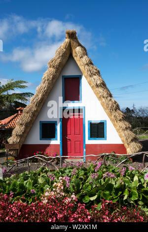 Portugal, Madeira Island, Santana, traditional houses - Stock Image