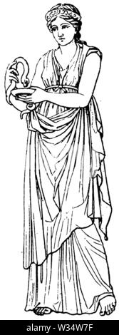 Hygiea. Goddess of Classical Antiquity, ,  (cultural history book, 1875) - Stock Image