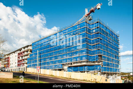 Gosford, New South Wales, Australia - September 7. 2018: Construction site and building progress update 134. Perspective view on new home units buildi - Stock Image