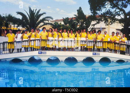 The housekeeping team at a resort hotel in the Algarve, Portugal, Europe - Stock Image