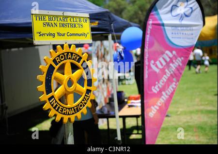 Rotary International plaque. Perth, Western Australia - Stock Image