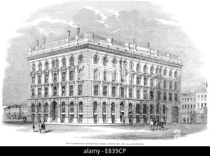 Warehouse erected for Brown son and co Manchester Lancashire1853 - Stock Image
