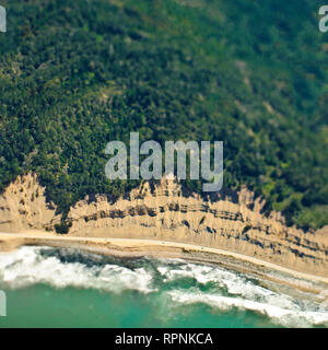 Aerial View of a Coastal Road - Stock Image