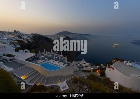 Morning light at imerovigli village - Santorini - Stock Image