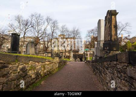 Edimburgh (Scotland) - The Old Calton Burial Ground, graveyard at Calton Hill - Stock Image