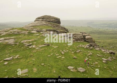 Haytor rocks in Dartmoor National Park - Stock Image