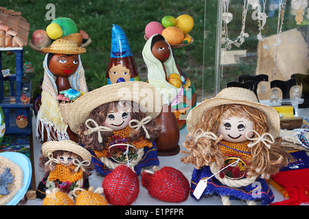 Hand-made Colombian dolls and gifts. - Stock Image