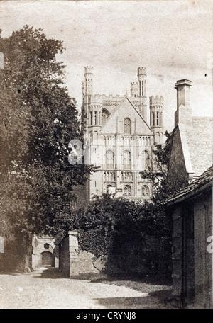 Peterborough Cathedral, ca 1850 - Stock Image