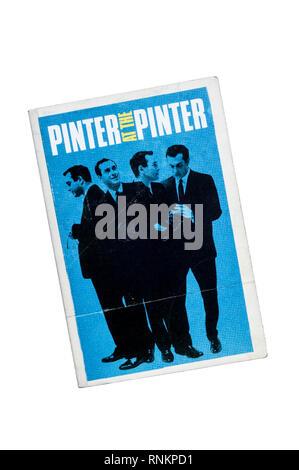 Book accompanying the Pinter at the Pinter season of Harold Pinter's short plays at the Pinter Theatre. - Stock Image