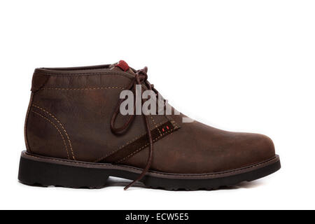 Profile of a brown Chukka Boot Shoe - Stock Image