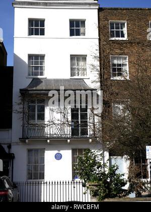 Chelsea house where Bram Stoker lived - Stock Image