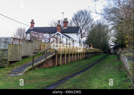Former station on the Hudson Way Rail Trail on the route of former York to Beverley railway, Kiplingcotes, East - Stock Image