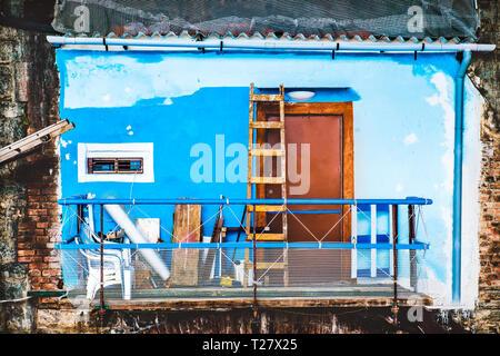 property restoration contrast renewal scaffold - Stock Image