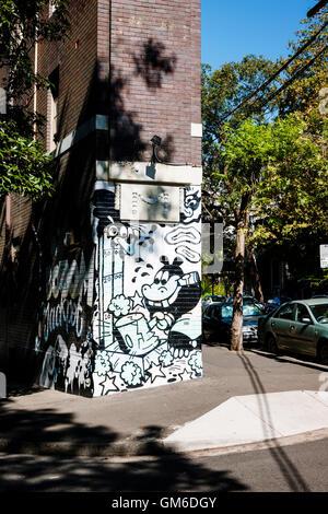 Street art in the Darlinghurst area of Sydney. - Stock Image