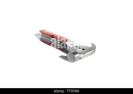 Hammer on isolated white background - Stock Image