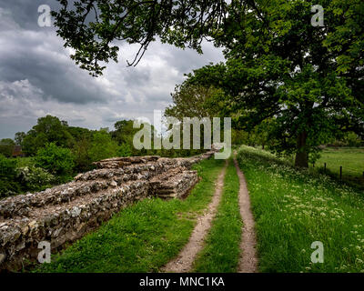 North wall at Silchester, the Roman town in Hampshire, UK - Stock Image
