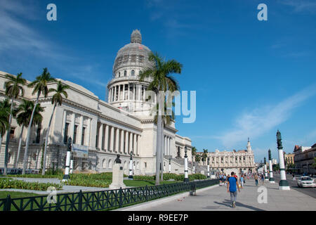 El Capitolio (The Capital), was home of the government until the Cuban Revolution in 1959 and is now home to the Cuban Academy of Science. It was comp - Stock Image