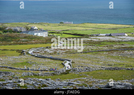 Overlook over Arainn, Aaran Islands, Republic of Ireland, Europe - Stock Image