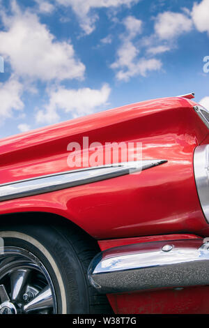 Detail of a red vintage Chevrolet El Camino car - Stock Image