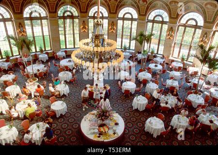 Palm Beach Florida The Breakers Italian Renaissance style five star hotel Circle Dining Room breakfast buffet - Stock Image