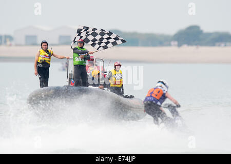 Stokes Bay, Hampshire, UK. 6th Sep, 2014. P1 Superstock final round. Stokes Bay, Gosport, Hampshire. The final AquaX - Stock Image