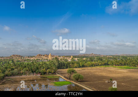 A view over Hampi, india - Stock Image