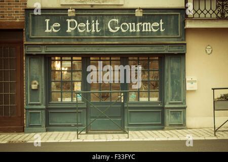 French restaurant. - Stock Image