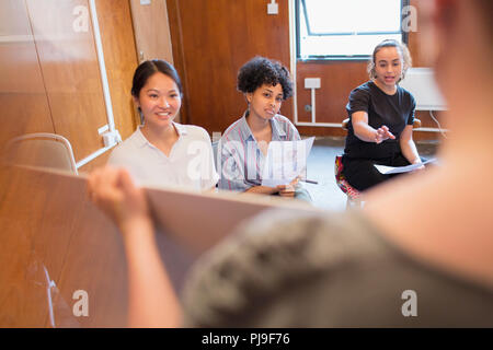 Creative business people brainstorming - Stock Image