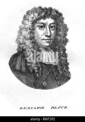 BENJAMIN BLOCK (1631-1690) German-Hungarian painter - Stock Image