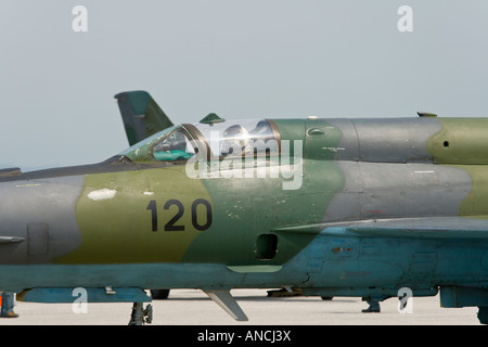 Croatian Air Force MiG-21 BISD '120' fighter closeup - Stock Image
