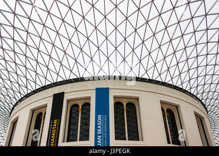 British Museum interior, London, England